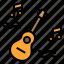 activity, guitar, hobby, play, vacation