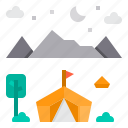 activity, camping, hobby, play, vacation icon