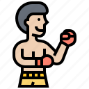 sport, fighter, boxing, art, martial icon