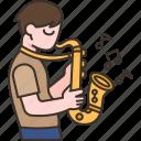 saxophone, musician, jazz, music, artist