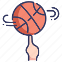 activity, ball, basketball, finger, game, professional, sport icon