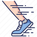 athlete, exercise, marathon, motion, run, speed, sport icon