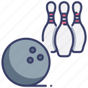 ball, bowl, bowling, game, hobby, play, sport