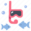 diver, fish, ocean, scuba, sea, underwater, water icon
