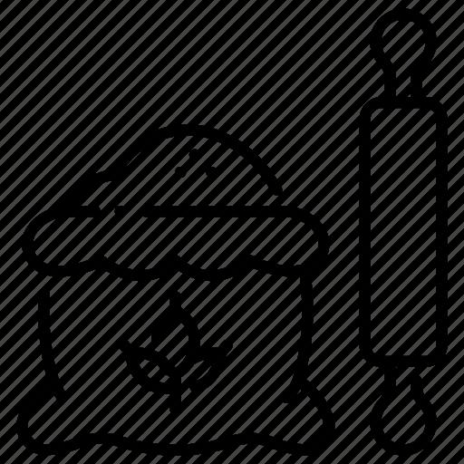 baker, bakery, food, hobby, homemade, pin, wheat icon