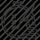 embroidery, needle, hoop, hobby icon