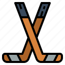 competition, hockey, sportive, sticks, tools icon