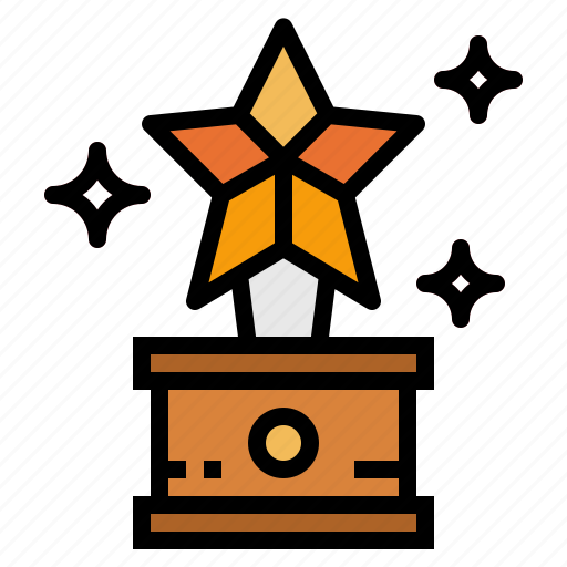 cup, medal, star, trophy icon