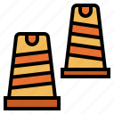 cone, security, signaling, traffic icon