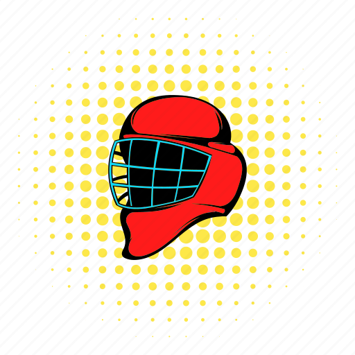 comics, competition, helmet, hockey, ice, protection, sport icon