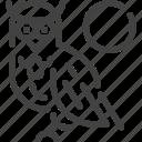 animal, hokkaido, japan, owl icon