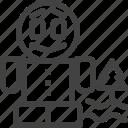 biei, field, hokkaido, japan, landmark icon