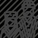 ainu, hokkaido, japan, people, tribe icon