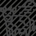 animal, cow, hokkaido, japan icon