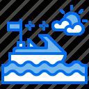 boat, hobby, sea, speedboat icon