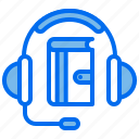 book, course, education, headphone, learning icon