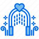 arch, love, marriage, romantic, wedding icon