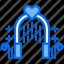 arch, love, marriage, romantic, wedding