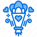 bouquet, flower, love, marriage, party, wedding icon