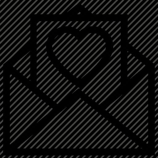 Envelope, heart, letter, love, romantic, valentine icon - Download on Iconfinder