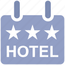 board, frame, holiday, hotel, rating, sign, three stars icon