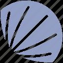 marine, plant fish, sea fish, sea food, sea shell, shell, shell fish icon