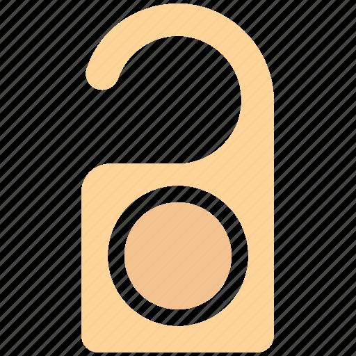 disturb, door sign, hotel, room, service, sign, tag icon