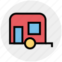 adventure, camp, caravan, holiday, leisure, motor house, travel icon