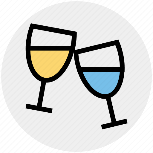 alcohol, champaign, cheers, drink, glasses, toast, wine icon