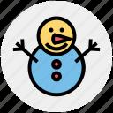christmas, holiday, man, ornaments, season, snow, snowman icon