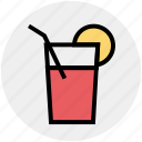 cocktail, drink, food, glass, juice, lemon, lemonade icon