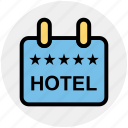 board, five stars, frame, holiday, hotel, rating, sign