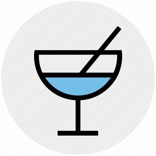 beverage, cold, drink, glass, juice, straw, water icon