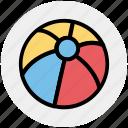 ball, beach, beach ball, fun, holiday, play, summer icon