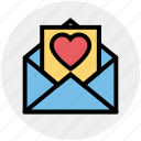envelope, heart, letter, love, romantic, valentine icon