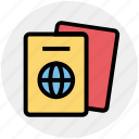holiday, paper, passport, seaside, travel, vacation, visa icon