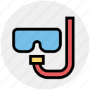 goggles, holiday, oman, scuba, sea, snorkel, swimming icon