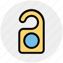 disturb, door sign, hotel, room, service, sign, tag icon