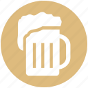 alcohol, beer, beer mug, beverage, foam, mug, oktoberfest icon