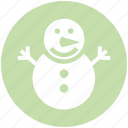 christmas, holiday, man, ornaments, season, snow, snowman icon