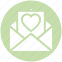 envelope, heart, letter, love, romantic, valentine