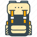 backpack, camping, hike, hiking, holiday, rucksack icon