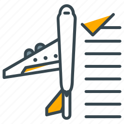 airplane, booking, flight, holiday, plane, ticket icon