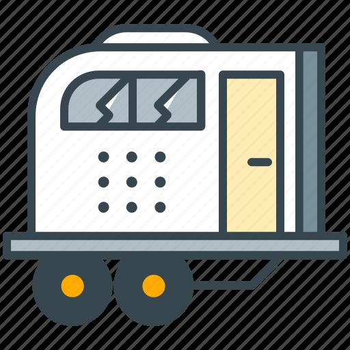 caravan, holiday, transport, travel, vehicle, wagon icon