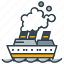 boat, cruise, holiday, luxury, ship, transport, vessel icon