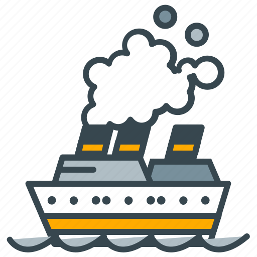 boat, cruise, holiday, luxury, ship, transport, vessel icon
