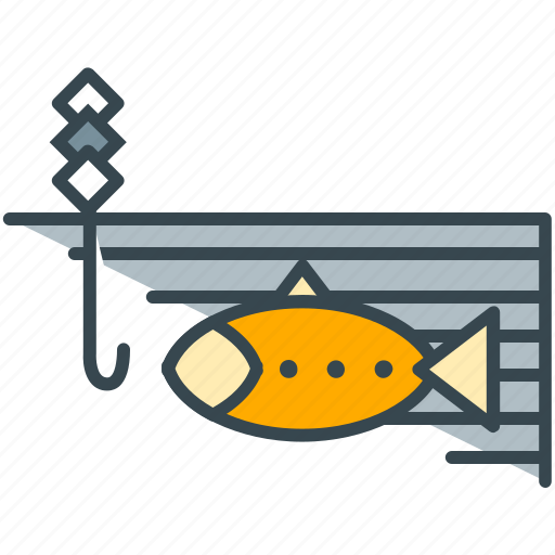 fish, fisherman, fishing, food, hobby, holiday, hook icon
