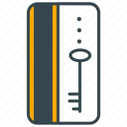 card, holiday, hotel, key, lock, security icon