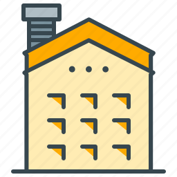 building, estate, holiday, hotel, house, motel, real icon