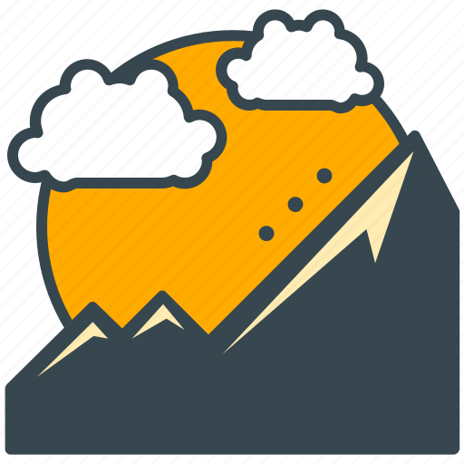 climb, cloud, hike, holiday, landscape, mountain, scenery icon